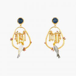 Boucles D'oreilles Creoles Boucles d'oreilles tiges couple de calopsittes et boutons de rose160,00€ AOLA102T/1Les Néréides