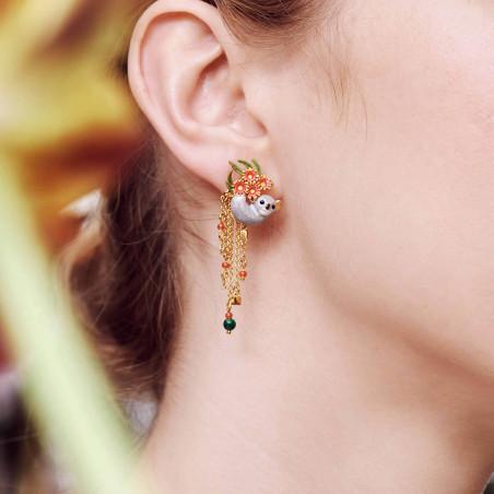 Squirrel and mushrooms earrings