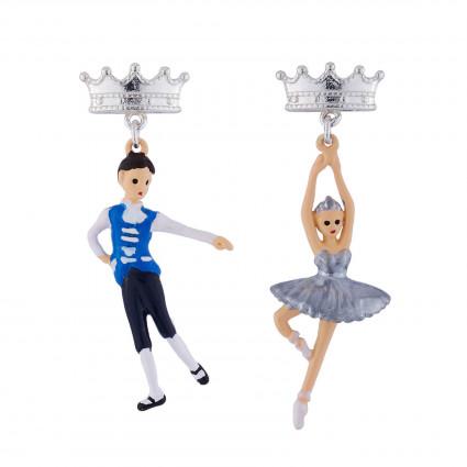 Boucles D'oreilles Boucles D'oreilles Prince Et Ballerine Cygne Argenté55,00€ AIBB101T/1N2 by Les Néréides