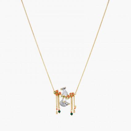 Colliers Plastrons Collier plastron couple de koalas, boutons de rose et perle de malachite190,00€ AOLA303/1Les Néréides