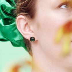 Boucles D'oreilles Clip Boucles d'oreilles clip pierre carrée la diamantine vert émeraude50,00€ AOLD101C/1Les Néréides
