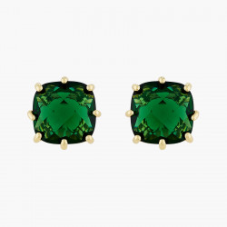 Square Emerald Green Stone...