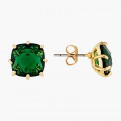 Boucles D'oreilles Tiges Boucles d'oreilles tiges pierre carrée la diamantine vert émeraude50,00€ AOLD101T/1Les Néréides