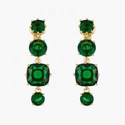Boucles D'oreilles Clip Boucles D'oreilles Clip 4 Pierres La Diamantine Vert Émeraude80,00€ AOLD120C/1Les Néréides