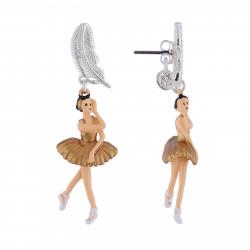 Boucles D'oreilles Boucles D'oreilles Ballerine Cygne Doré