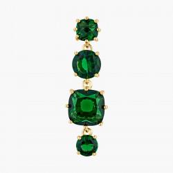 Boucles D'oreilles Pendantes Boucles d'oreilles tiges 4 pierres la diamantine vert émeraude80,00€ AOLD120T/1Les Néréides