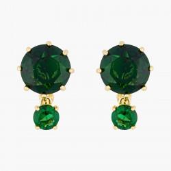 Boucles D'oreilles Clip Boucles d'oreilles clip pierres rondes la diamantine vert émeraude60,00€ AOLD126C/1Les Néréides