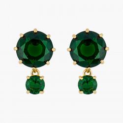 Boucles D'oreilles Tiges Boucles d'oreilles tiges pierres rondes la diamantine vert émeraude60,00€ AOLD126T/1Les Néréides