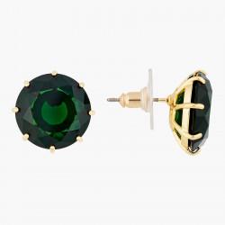 Amethyst stone and bunch of golden rock heap earrings