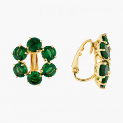 Boucles D'oreilles Clip Boucles d'oreilles clip 6 pierres la diamantine vert émeraude80,00€ AOLD142C/1Les Néréides