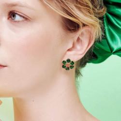 Boucles D'oreilles Tiges Boucles d'oreilles tiges pierre ronde la diamantine vert émeraude80,00€ AOLD142T/1Les Néréides