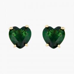 Boucles D'oreilles Tiges Boucles d'oreilles tiges pierre cœur la diamantine verte émeraude50,00€ AOLD145T/1Les Néréides