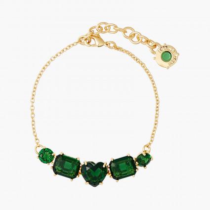 Bracelets Fins Bracelet fin pierres la diamantine verte émeraude80,00€ AOLD214/1Les Néréides