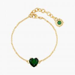 Bracelets Fins Bracelet fin pierre cœur la diamantine vert émeraude50,00€ AOLD253/1Les Néréides