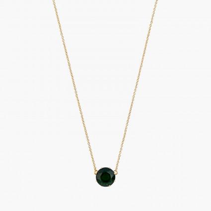 Colliers Pendentifs Collier pendentif pierre ronde la diamantine vert éméraude60,00€ AOLD301/1Les Néréides