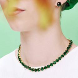 Colliers Ras De Cou Collier ras de cou pierres rondes la diamantine vert émeraude300,00€ AOLD332/1Les Néréides