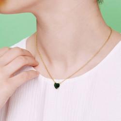 Colliers Pendentifs Collier pendentif pierre cœur la diamantine vert émeraude50,00€ AOLD353/1Les Néréides