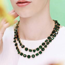 Colliers Plastrons Collier deux rangs luxe la diamantine vert émeraude590,00€ AOLD355/1Les Néréides