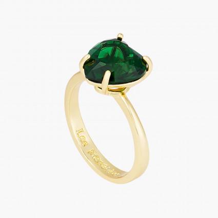 Bagues Ajustables Bague solitaire pierre cœur la diamantine vert émeraude50,00€ AOLD617/1Les Néréides