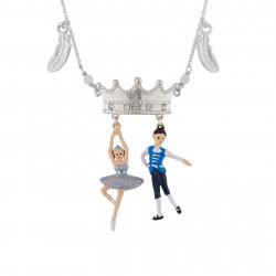 Colliers Collier Prince, Ballerine Cygne Argenté Et Plumes75,00€ AIBB302/1N2 by Les Néréides