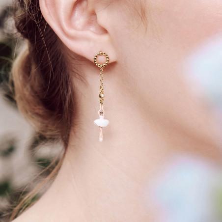 Smoky quartz square stone earrings
