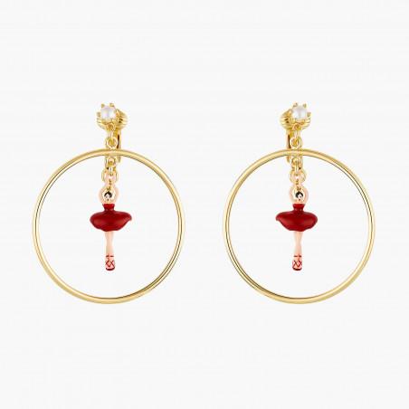 4 Opal white stones clip earrings