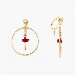 Boucles D'oreilles Clip Créoles clip mini ballerine en tutu rouge90,00€ AOMDD103C/6Les Néréides