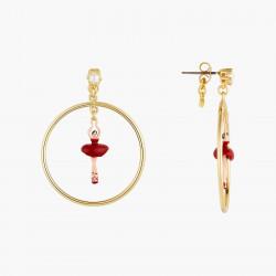 Boucles D'oreilles Creoles Créoles tiges mini ballerine en tutu rouge90,00€ AOMDD103T/6Les Néréides