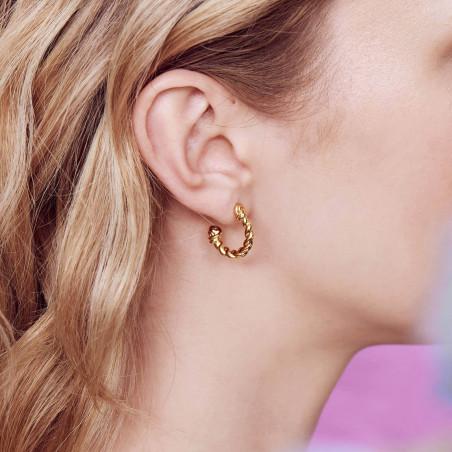 2 Smoky quartz round little stones earrings