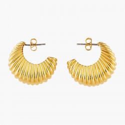 Gadroon Pattern Hoop Earrings