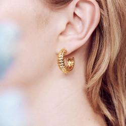 Boucles D'oreilles Creoles Boucles d'oreilles créoles tiges cœurs en firmament110,00€ AOMI105T/1Les Néréides
