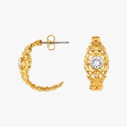 Boucles D'oreilles Creoles Boucles d'oreilles créoles minimaliste et pierre de verre facetté80,00€ AOMI106T/1Les Néréides