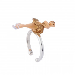 Bagues Bague Ajustable Ballerine Cygne Doré40,00€ AIBB601/1N2 by Les Néréides