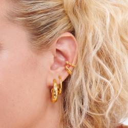 Boucles D'oreilles Creoles Boucle d'oreille ear cuff torsade35,00€ AOMI108/1Les Néréides