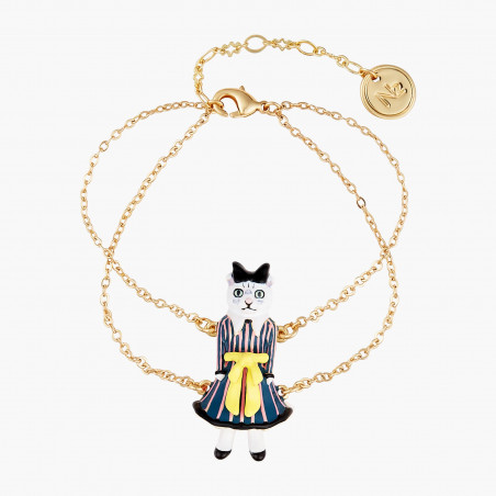 Smoky quartz two rows luxurious bracelet