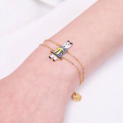 Bracelet luxe un rang blanc opale