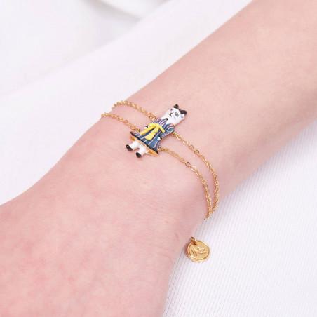 Opal white one row luxurious bracelet