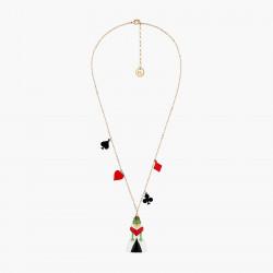 Colliers Originaux Collier pendentif pique, cœur, carreau, trèfle et crapaud reine rouge alice au pays des merveilles90,00€ ...