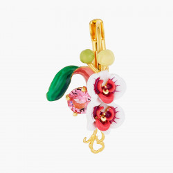 Boucles D'oreilles Dormeuses Boucles d'oreilles dormeuses orchidées et pierre de verre facetté95,00€ AOOC101D/1Les Néréides