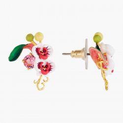 Boucles D'oreilles Tiges Boucles d'oreilles tiges orchidée papillon et pierre rose95,00€ AOOC101T/1Les Néréides