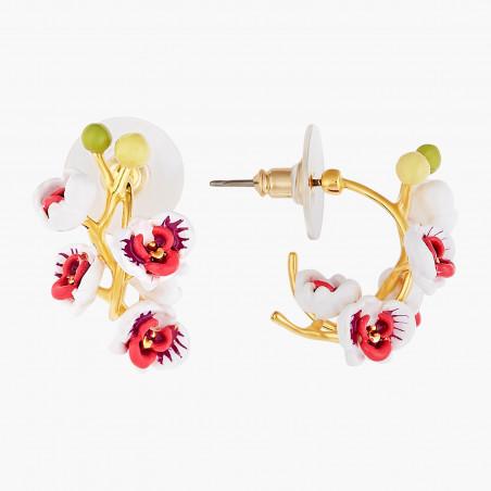 Post earrings LA DIAMANTINE round stone OPAL