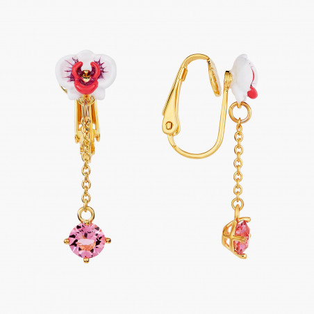 Post earrings LA DIAMANTINE 4 stones OPAL