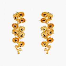 Boucles D'oreilles Tiges Boucles d'oreilles pendantes tiges branche orchidées flamboyantes au cœur de cristal taillé140,00€ ...