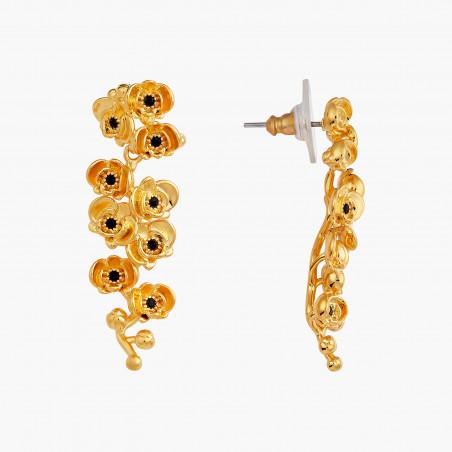 Post earrings LA DIAMANTINE 2 round stones OPAL