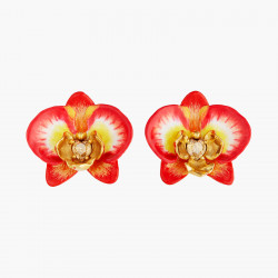 Pendientes de clip orquídea...