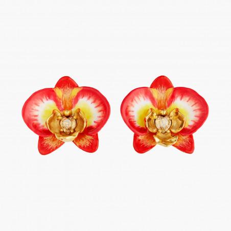 Post earrings LA DIAMANTINE 2 round stones SMOKY QUARTZ