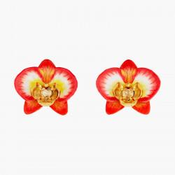 Pendientes bolitas orquídea...