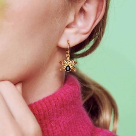 Necklace 40cm LA DIAMANTINE multi stones SMOKY QUARTZ