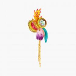 Boucles D'oreilles Pendantes Boucles d'oreilles pendantes tiges fleur tropicales et pierre de verre facetté195,00€ AOOC112T/...