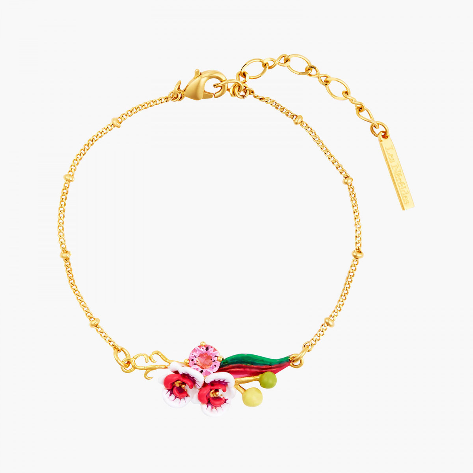 Bracelets Fins Bracelet fin orchidée papillon et pierre rose95,00€ AOOC201/1Les Néréides